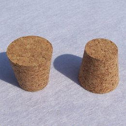Wholesale Wine Bottle Corks Free Shipping - 39*29*35MM Wood Wine Glass Bottle Stopper Wish Bottle Cork Caps Bar Tool Wine Stoppers Free Shipping