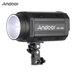 Wholesale Portrait Photography Photos - Wholesale-Andoer MD-250 250WS GN50 Studio Flash Photo Strobe Photography Speedlight Lamp for Studio Portrait Certificate Shooting