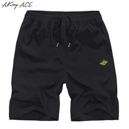 Wholesale Ace Plus - Wholesale- 2017 AKing ACE Mens Summer jogger shorts M-5XL fitness polyester shorts men 100D elastic waist short pants casual ,ZA202