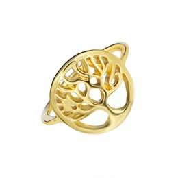Wholesale Tree Fashion Ring - Wholesale 10Pcs lot Free Shipping 2017 New Fashion Midi Rings South American Jewelry Tree of Life Gold Filled Rings