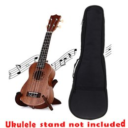 Wholesale Engraved Guitars - Wholesale-Soprano Ukulele 21Inch Four Strings Laser Engraving Hawaii Guitar Laminated Mahogany Top Abalone Soundhole Rosette Matt +1 Bag