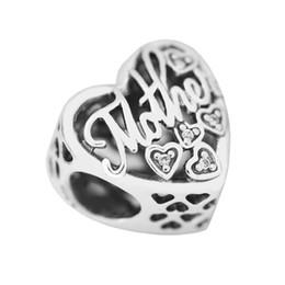 Wholesale Mother Son Bracelets - Mother & Son Bond Clear CZ 2017 Mother's Day 100% 925 Sterling Silver Bead Fit Pandora Bracelet Authentic Charm Fashion Jewelry