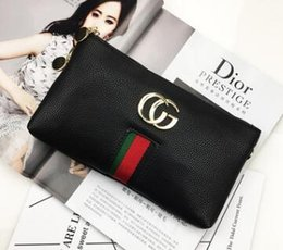 Wholesale Cheap Canvas Purses - 2017 new womens fashion single zipper cheap luxury women pu leather wallet lady ladies woman long purse