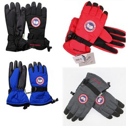 Wholesale Sport Gloves For Men - Canada Unisex Finger Gloves Goose Winter Windproof Warm Gloves Outdoor Riding Skiiing Cycling Sports Gloves for Men and Women