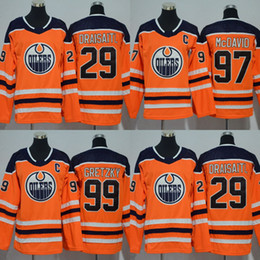 Youth Women 2017-2018 Season  97 Connor McDavid  99 Wayne Gretzky Leon  Draisaitl Edmonton Oilers Hockey Jerseys Stitched Kids New Jersey cde3d0fd8