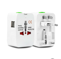 Wholesale Chinese Power Converter - All in One Universal International Plug Adapter 2 USB Port World Travel AC Power Charger Adaptor with AU US UK EU converter Plug