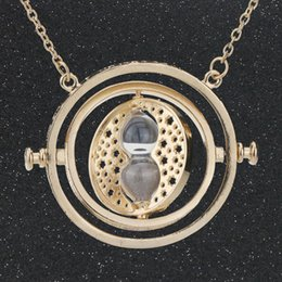 Wholesale Hermione Granger Time Turner - High Quality Time Turner Necklace Hourglass Hermione Granger Gold Color Pendant Fashion Vintage New Hot Movie Jewelry Wholesale