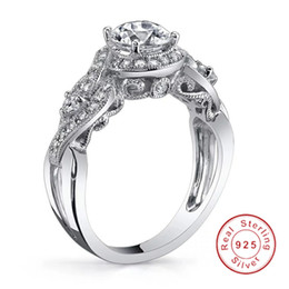 Wholesale Wedding Rings Made Silver - Size 5 6 7 8 9 10 Original Jewelry Making Ring Luxury Women Solid 925 Silver Ring set 4mm Sona CZ Diamond Engagement Wedding Rings