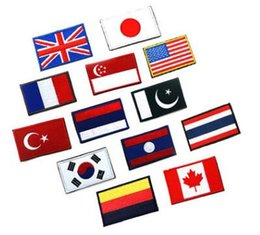 Wholesale Britain Flags - Flags American Flag Patch Armband Embroidered Cloth Standard Customized Britain and Germany Design Badges Accessories