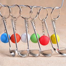 2019 golf sportartikel Neue bunte metallische golf keychain sportartikel spiele souvenir sport wettbewerb bälle keychain souvenirs für Verkauf günstig golf sportartikel