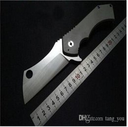 Wholesale ToxiCut Toxicfad Field Cleaver Heavy Huge Tactical Hunting Folding Knife D2 Blade Titanium Gear Tool Camping Chopper Cutter Karambit Nice