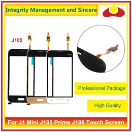 Wholesale Digitizer Galaxy Mini - High Quality For Samsung Galaxy J1 Mini J105 SM-J105F And Prime J106 Touch Screen Digitizer Outer Glass Lens Panel Black White Gold