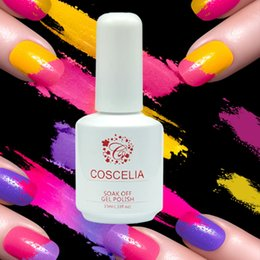 Wholesale Light Cured Gel Nails - Wholesale- 1Pc COSCELIA 15ml Pc 231 Colors Gel Nail Polish UV Gel Polish Glitter Long-lasting Cure Light Pure Soak-off Nail Art Tools