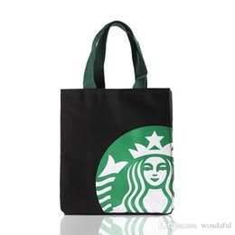 Wholesale Insulated Picnic - Women handbag Fashion polyerter Insulated Lunch Bag Picnic Lunch Bags Thermal insulation Shopping Bag starbucks designs