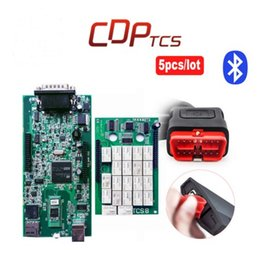 Wholesale Cdp New Design - 2016 New design 2014.R2 software dvd function as mvd TCS CDP pro with Bluetooth new vci cdp COM CARs TRUCKs scan tools