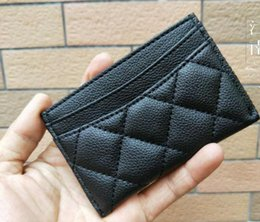 Wholesale Card Holders Logo - NEW 2017 classic C fashion Mini Wallet with holder famous logo black PU bag card holder Coin bag Luxury VIP gift