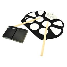 Canada Instruments de percussion de haute qualité Batteries électroniques roulées à la main Batteries Spectacle pliant portable contre la batterie de jazz Offre