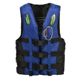 Wholesale Boating Vest - Wholesale- New Sale Dalang Times Boating Ski Vest Adult PFD Fully Enclosed Size Adult Life Jacket Blue S M L XL XXL XXXL