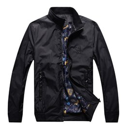 Wholesale Pretty Males - Wholesale- Jacket men's 2017 new style autumn stand collared commerce fashion high fabric pretty pattern male coat free shipping