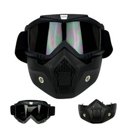 Wholesale Face Shot - Wholesale-Outdoor tactical Paintball Shooting Party Masks Beon motorcycle face mask dust mask with detachable Goggles And Mouth Filter