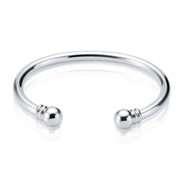 Wholesale Sterling Silver Ladies Bangles - Cuff Bangle Handmade Fashion Sterling Silver Nice Jewelry Bracelets Free Shipping 2017 New Arrival Women Ladies Promise Gifts