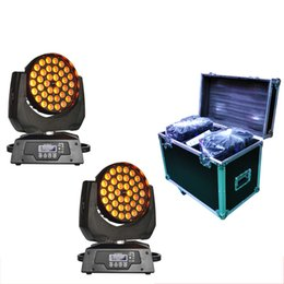 Wholesale Moving Head Light 15w - 2XLOT 36*15W RGBWA 5IN1 Zoom Led Moving Head Light Beam Angle Adjustable by Flight case|Road case|Rack case