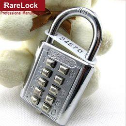 Wholesale Hardware For Cabinet Doors - Wholesale- Rarelock ZS74 Anti-theft Button Combination Padlock Digit Push Password Lock for GYM Locker Drawer Cabinet Door DIY Hardware