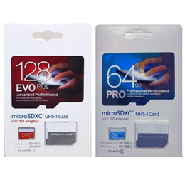 Wholesale Wholesale Mobile - 2017 Top Selling 128GB 64GB 32GB EVO PRO PLUS microSDXC Micro SD SDHC 80MB s UHS-I Class10 Mobile Memory Card
