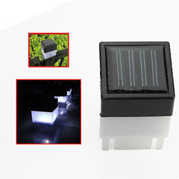 Wholesale Wholesale Solar Lamp Post Lights - Wholesale- LED Solar Powered Night Light Outdoor Garden Yard Pool Waterproof White Lights Pathway Lighting Lamp Decoration Fence Post Cap L