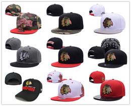 Wholesale Adult Chicago - 2017 New style Arrived Chicago Blackhawks gorras planas Hat Adjustable Baseball bones aba reta Snapback Hockey Cap Adjustable Hiphop chapeu