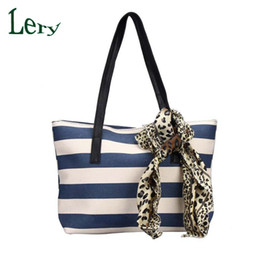 Wholesale Wholesale Plain Tote Bags Cheap - Wholesale-2016 Fashion Big Striped Plaid Ladies Handbags High Quality Shoulder Bags Clutches Famou Brand Women Bag Canvas Cheap Tote Bags