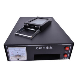 Wholesale Ink Seals - Wholesale- 220 V HT-A600 Photosensitive Portrait Flash Stamp Machine Auto-inking Kit Stamping Making Seal Support film Pad (WITHOUT Ink)