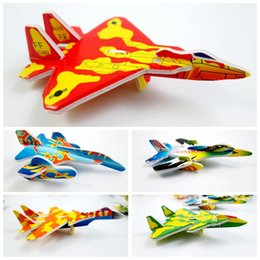 Wholesale Paper Toy Puzzle 3d - 360pcs lot Mini fighter aircraft plane Model paper 3D puzzles toys for children gift Intelligence toys