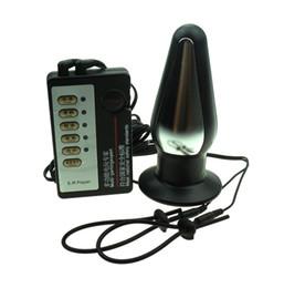 Choc électrique Anal Plug Butt Plug Pénis Locker Anneau Thérapie Électro Stimulation Masseur BDSM Bondage Vitesse Adult Sex Toys pour Hommes JDAB1709 ? partir de fabricateur