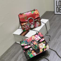 Flor de las mujeres impresas Flap bolsa floral negro bolso de la cadena roja Crossbody mini bolso de hombro Totes embrague WX11581 desde fabricantes