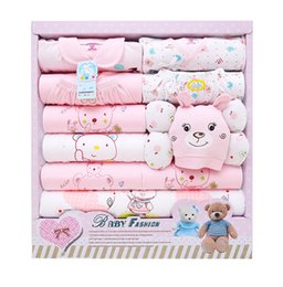 Wholesale Organic Newborn Set - 2016 New Spring Autumn winter Newborn baby gift sets infant baby boy girl clothes package 100% cutton High Quality