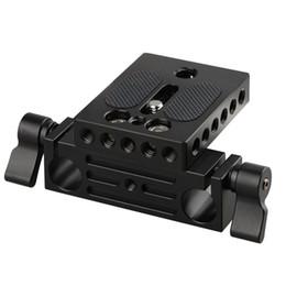 Wholesale 15mm Rails - CAMVATE Camera Baseplate with 15mm Railblock fr DSLR Rig 15mm Rod Rail Support System