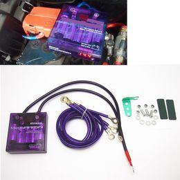Wholesale Fuel Saver Cars - 1pcs Purple PIVOT MEGA RAIZIN Universal Car Fuel Saver Voltage Stabilizer Regulator Free shipping