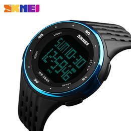 Wholesale Skmei Watches - SKMEI 2017 Brand LED Digital Mens Military Watch Male Sports Watches 5ATM Swim Climbing Fashion Outdoor Casual Men Wristwatches 1219