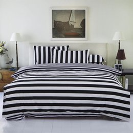 Wholesale Classic Bedding Sets - Wholesale- New Drop Ship Bedding Set Twin Full Queen Size Duvet Cover Set Classic Black and White Bed Sheet Sets Home Textile