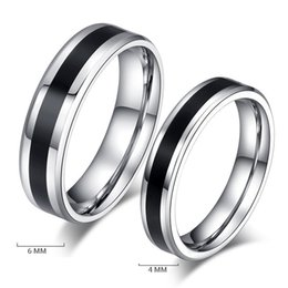 Wholesale Good Quality Couples Rings - wholesale 316L silver lovers simple unisex ring jewelry party or wedding gift rings cheap and good quality perfect stainless steel ring