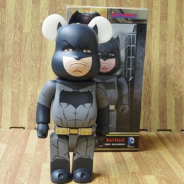 Wholesale Anime Batman Toy - Bearbrick Be@rbrick COS Batman 400% DC Comics Kaws Gloomy-Bear MoMo Bear POPOBE Qee Anime Bear Christmas Birthday Gifts Toys Action Figure