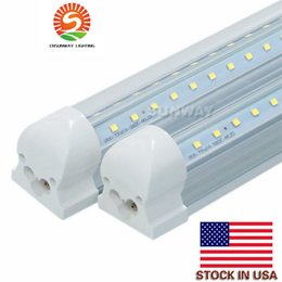 Wholesale Energy Light Tube - 4ft 5ft 6ft 8ft LED Tube Light V Shape Integrated LED Tubes 4 5 6 8 ft Cooler Door Freezer LED Lighting