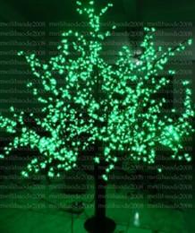 Ha portato l'albero verde del fiore online-2017 NUOVO Natale Nuovo anno LED Cherry Blossom Tree 1024pcs LED verde Lampadine 1.8m / 6ft Altezza 110 / 220VAC Antipioggia Uso Esterno MYY