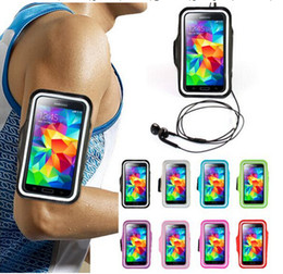 Wholesale waterproof for galaxy s3 - WaterProof arm band Sport Gym Running Armband Protector Soft pouch Case Cover For iphone 5 6 plus Samsung Galaxy note 3 S3