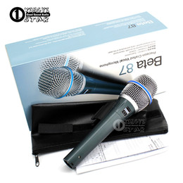 Wholesale mic for computers - Microfono Professional Beta87C XLR Wired Handheld Vocal Dynamic Karaoke Microphone For Beta 87C BETA87A BETA 87A BETA 87 Mic Mike Microfone