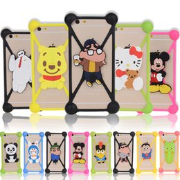 Wholesale Cover Minion Iphone - Universal Minions Soft Silicone Protector 3D Cartoon Phone Case Cover For iPhone 6 6S 7 Plus