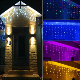 Wholesale Background Lights Led - 10M*0.5M 320LEDS Twinkle Lighting LED xmas String Fairy Wedding Curtain background Outdoor Party Christmas Lights waterproof