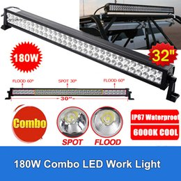 """Wholesale led emergency light bar truck - 32"""" 180W LED Light Bar 14400lm 60pcs 3W Combo Beam for Off-road SUV Boat Truck Jeep Pickup Tractor Emergency & Rescue Atv Ute Trailer"""