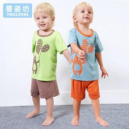 Wholesale Children Clothes Panda - Yingzifang Summer Casual Pattern Panda Baby Boys Kids Children Cartoon Cotton Clothing Set 2 Pieces T-shirt + Shorts